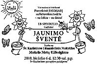 2010 Jaunimo Svente - Youth Festival announcement - click to enlarge in separate window as pdf