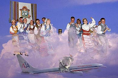 click/enlarge - Spindulys dancers fly to Australian Lithuanian Days