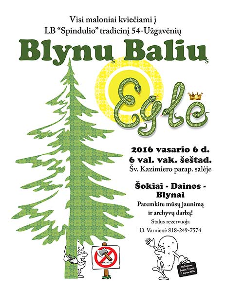 2016 BLYNU BALIUS PANCAKE BALL announcement